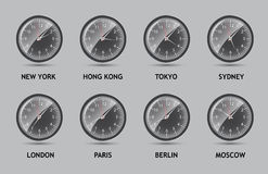 Time Zone World vector illustration Royalty Free Stock Photography