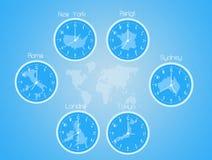 Time zones clocks Royalty Free Stock Photo