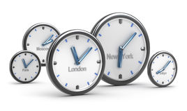 Time zones concept Royalty Free Stock Photo