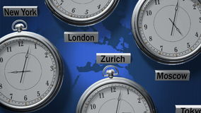 Time zones stock footage