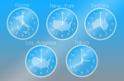 Time zones Royalty Free Stock Images