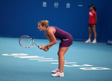 Timea Bacsinszky at the 2010 China Open stock photography