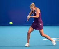 Timea Bacsinszky of Switzerland in action stock image