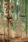 Timebattered dörr Arkivbilder