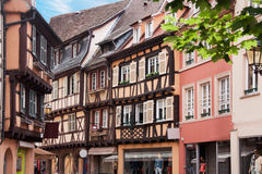 Timebered-houses in Colmar, France Stock Photo