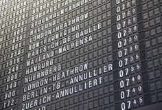 Timeboard d'aéroport Photographie stock libre de droits