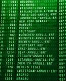 Timeboard del aeropuerto Imagen de archivo libre de regalías