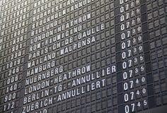 Timeboard dell'aeroporto Fotografia Stock Libera da Diritti