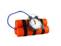 Timebomb做炸药在白色 库存照片
