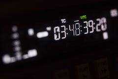 Timecode που τρέχει στο επαγγελματικό όργανο καταγραφής στοκ εικόνα με δικαίωμα ελεύθερης χρήσης