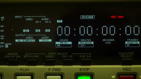 Timecode pokaz i wkładać taśma zdjęcie wideo