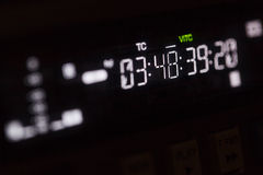 Timecode running on the professional recorder Royalty Free Stock Image