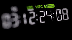 Timecode running on the professional vcr. Macro shot. Shot on Canon 5D Mark II with Prime L Lenses stock video