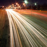 A timed-exposure of an interstate Royalty Free Stock Photos