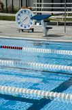 Timed swimming events. Stock Photography