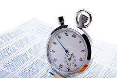 Timed Test Royalty Free Stock Image