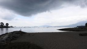 A timelapes video of English Bay.  stock footage
