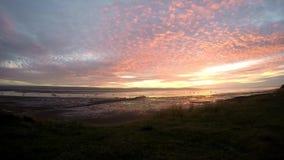Timelaps über dem Schauen des irischen Meeres stock video