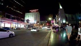Timelaps Лос-Анджелеса на bld Голливуда акции видеоматериалы