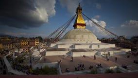 Timelaps av det Bodnath tempelkomplexet i Katmandu Andreev stock video