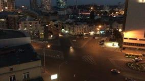 Timelaps da noite de Victory Square video estoque