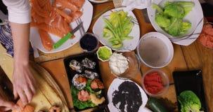 Timelaps de fazer o sushi