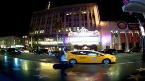 Timelaps de Los Ángeles en el bld de Hollywood almacen de metraje de vídeo