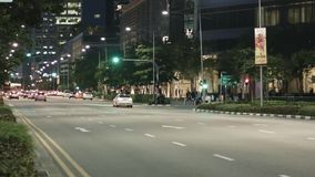 Timelaps Traffic road of Singapore stock footage