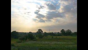 Timelaps von flaumigen Himmel der Wolken morgens bewegen stock video