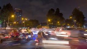 Timelapse夜交通在胡志明市 股票视频