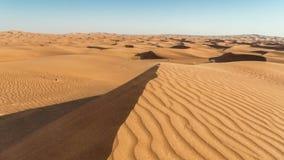 Timelapse射击了沙丘在日出,阿拉伯沙漠,迪拜,阿拉伯联合酋长国 股票视频