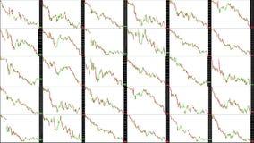 Timelapse屏幕 短时间 市场技术分析 交易范围 向量例证