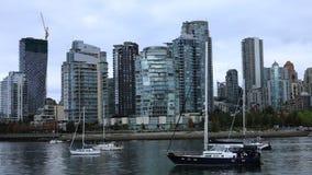 Timelapse摩天大楼在温哥华,加拿大4K 股票录像