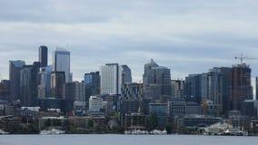 Timelapse西雅图,华盛顿街市在天气4K 股票录像