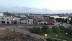 Timelapse镇,巴达霍斯,埃斯特雷马杜拉的老部分, 股票视频