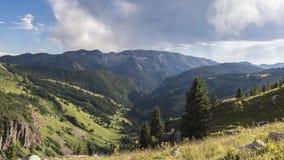 Timelapse风景在落矶山,褐红的Snowmass原野 股票录像