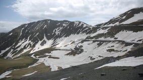 Timelapse高加索山脉覆盖白种人秀丽自然乔治亚动物 股票视频