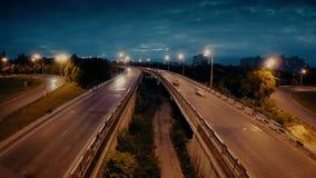 Timelapse鸟瞰图都市风景交通汽车 影视素材