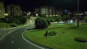 Timelapse - αυτοκίνητα που κινούνται τη νύχτα φιλμ μικρού μήκους