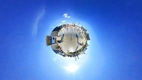 Timelapse 360 βαθμοί περιπάτων ανθρώπων στο τετράγωνο εμπορικών κέντρων απόθεμα βίντεο