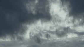 Timelapse ενός σύννεφου θύελλας απόθεμα βίντεο