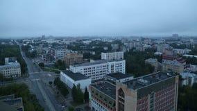 Timelapse η πόλη του καλοκαιριού σύννεφων ποταμών Kirov Vyatka απόθεμα βίντεο