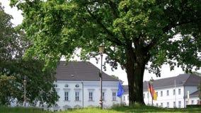 Timelapse: Κυκλοφορία σε Schloss Bellevue, παλάτι Bellevue στο Βερολίνο, Γερμανία απόθεμα βίντεο