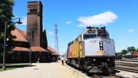 Timelapse μέσω του τραίνου ραγών σε Brantford, Καναδάς 4K απόθεμα βίντεο