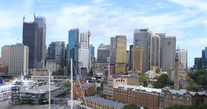 Timelapse Σίδνεϊ, λιμάνι και ορίζοντας 4K της Αυστραλίας απόθεμα βίντεο