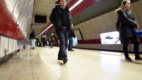 Timelapse στο σταθμό μετρό στη Ιστανμπούλ, Τουρκία 30 Δεκεμβρίου 2017 απόθεμα βίντεο