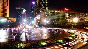Timelapse της εθνικής οδού και της λίμνης στην Τζακάρτα φιλμ μικρού μήκους