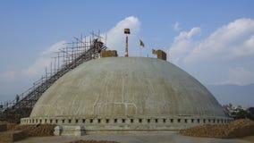 Timelapse της εργασίας αναδημιουργίας στο stupa Boudhanath στο Κατμαντού απόθεμα βίντεο