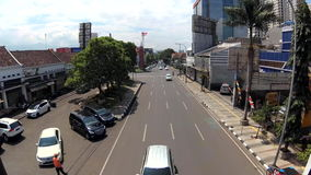 Timelapse της πολυάσχολης οδικής διατομής απόθεμα βίντεο