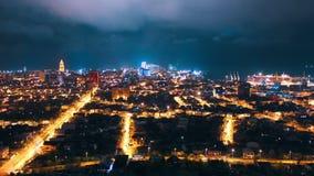 Timelapse της πόλης νύχτας, Batumi, Γεωργία φιλμ μικρού μήκους